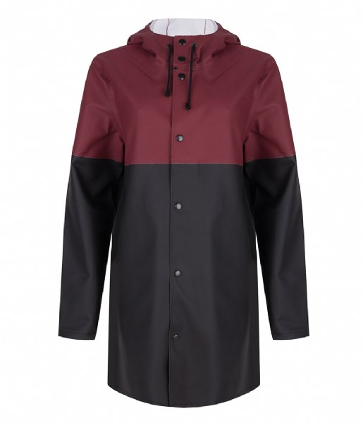 Stutterheim Regenjas Stockholm Blocked burgundy black