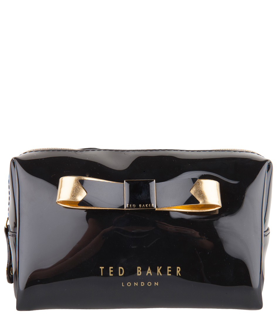 2b43bc8e9c1 Piave Small Bow Wash Bag black Ted Baker | The Little Green Bag