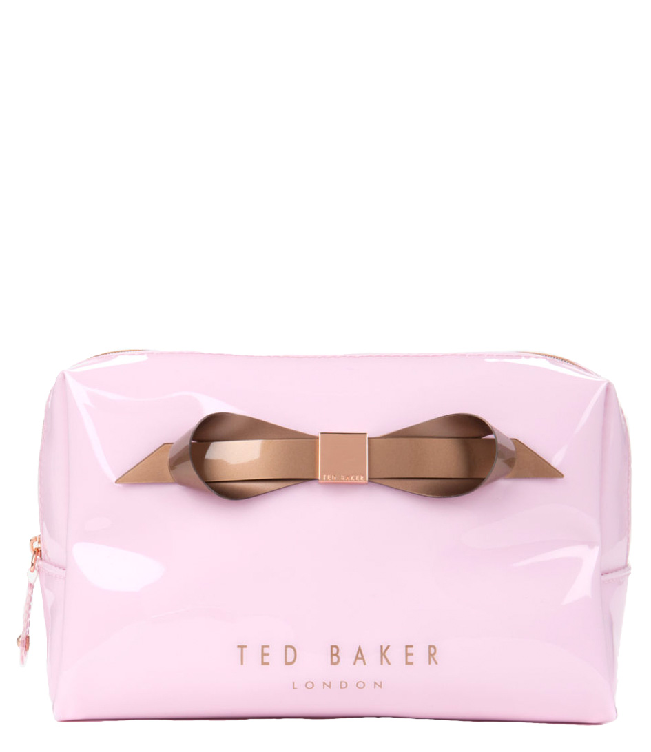 fc7fe2b1577 Ameliia Large Bow Wash Bag baby pink Ted Baker | The Little Green Bag