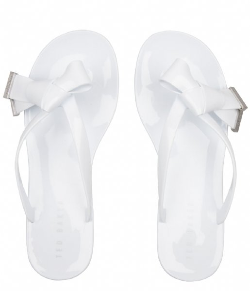 Ted Baker Slippers Luzzi Origami Bow Flip Flop Rude white