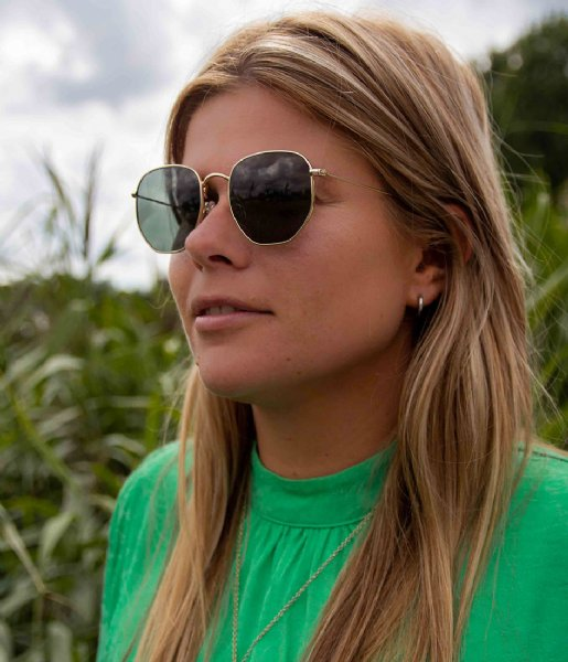 The Little Green Bag Zonnebril Sunglasses Levisa Goud & Bruin Tortoise