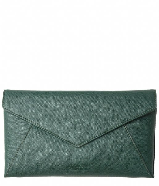 The Little Green Bag Crossbodytas Celeste Envelope Crossbody emerald