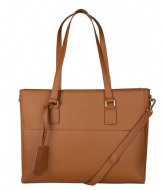 The Little Green Bag June Laptop Bag 13 Inch Tobacco