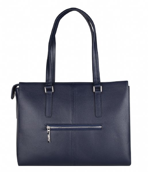 The Little Green Bag Crossbodytas Maple Laptop Tote 13 Inch navy blue