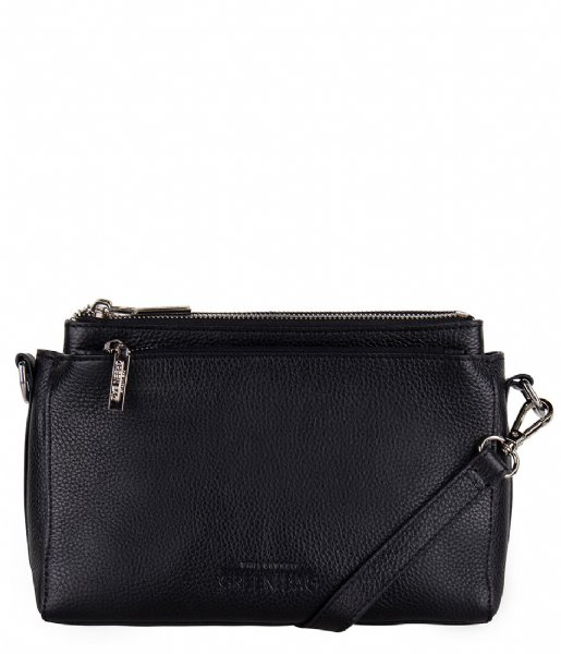 The Little Green Bag Crossbodytas Cerise Crossbody black