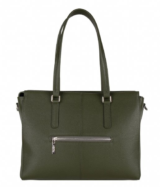 The Little Green Bag Crossbodytas Maple Laptop Tote 13 Inch olive