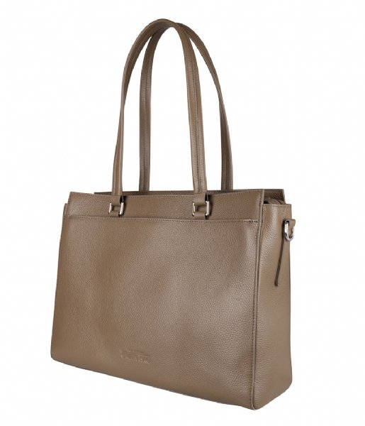 The Little Green Bag Crossbodytas Maple Laptop Tote 13 Inch taupe