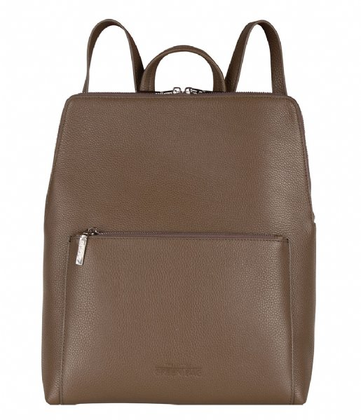 The Little Green Bag Dagrugzak Peony Laptop Backpack 13 Inch taupe