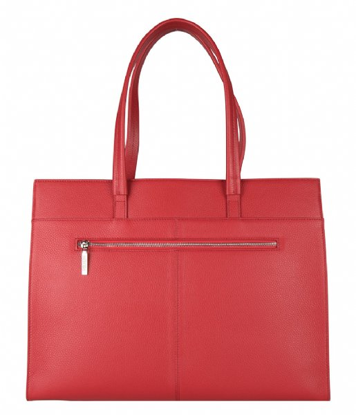 The Little Green Bag Laptop schoudertas Cassia Laptop Tote 15.6 Inch red