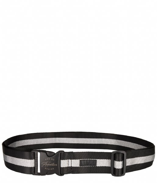 The Little Green Bag Kofferriem Suitcase Belt Hemlock black silver