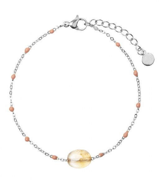 The Little Green Bag Armband Citrine Gem Bracelet X My Jewellery silver colored