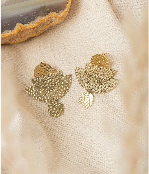 The Little Green Bag Oorbellen Beated Eclipse Earring X My Jewellery gold colored