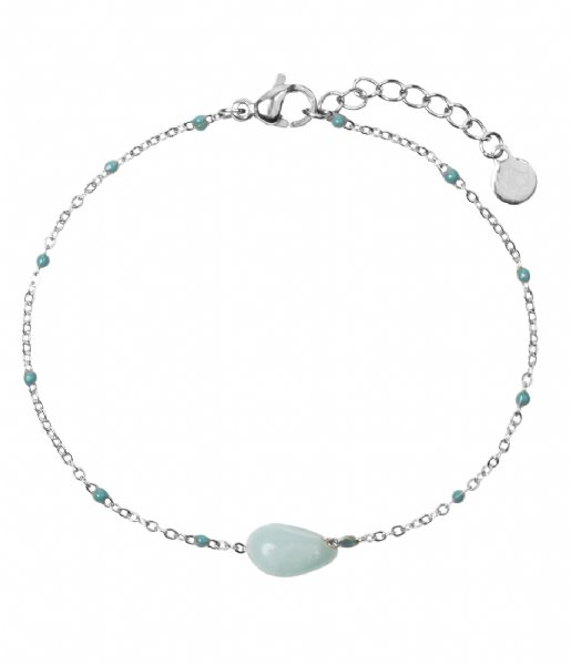 The Little Green Bag Armband Amazonite Gem Bracelet X My Jewellery silver colored