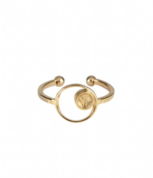 The Little Green Bag Ring Eclipse Ring X My Jewellery gold colored