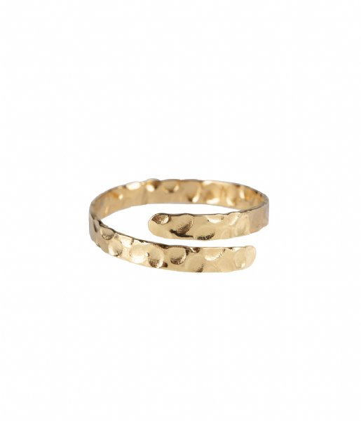 The Little Green Bag Ring Enfold Ring X My Jewellery gold colored