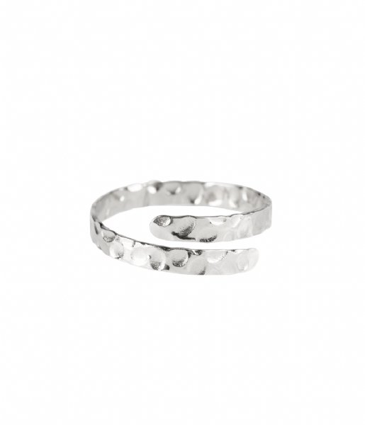 The Little Green Bag Ring Enfold Ring X My Jewellery silver colored