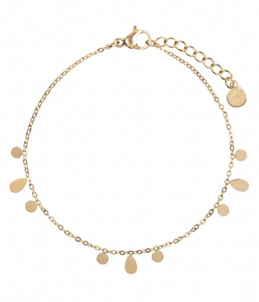 The Little Green Bag Armband Flat Coin Bracelet X My Jewellery gold colored