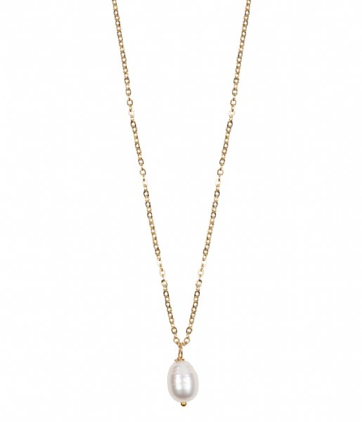 The Little Green Bag Ketting Freshwater Pearl Necklace X My Jewellery gold colored