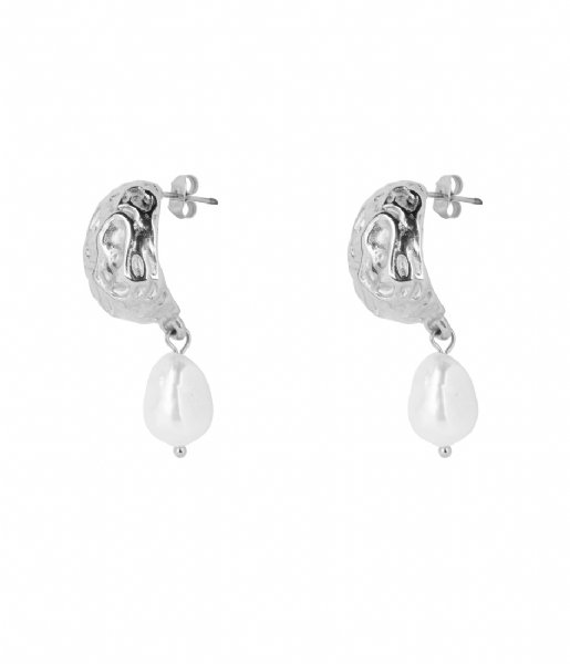 The Little Green Bag Oorbellen Nugget Freshwater Studs X My Jewellery silver colored