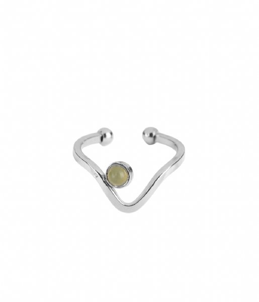 The Little Green Bag Ring Wave Ring X My Jewellery silver