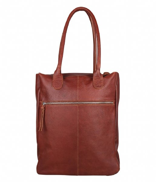 The Little Green Bag Laptop schoudertas Cedar Laptopbag 15.6 Inch Cognac (300)