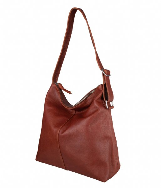 The Little Green Bag Handtas Fennel Hobo Cognac (300)