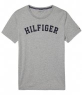 Tommy Hilfiger Ss Tee Logo Grey Heather (004)