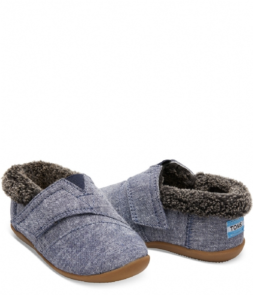TOMS Pantoffels House Slipper Woven navy chambray (10010736)
