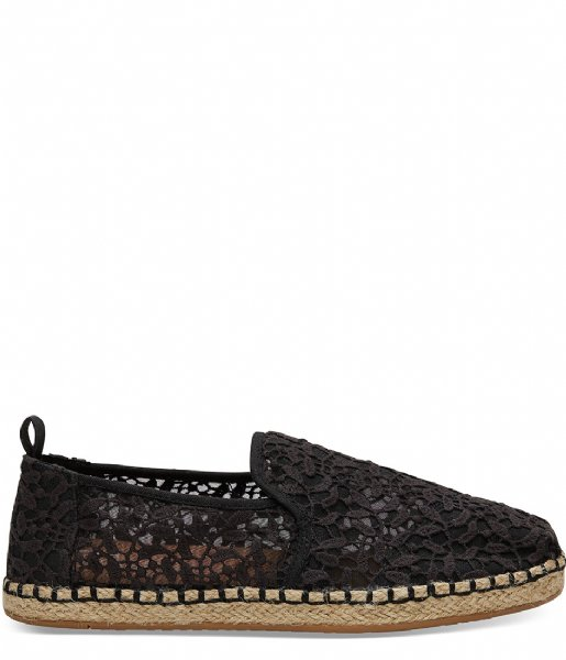 f00b071f6e7 Lace Leaves Deconstructed Alpargata black (10011722) TOMS