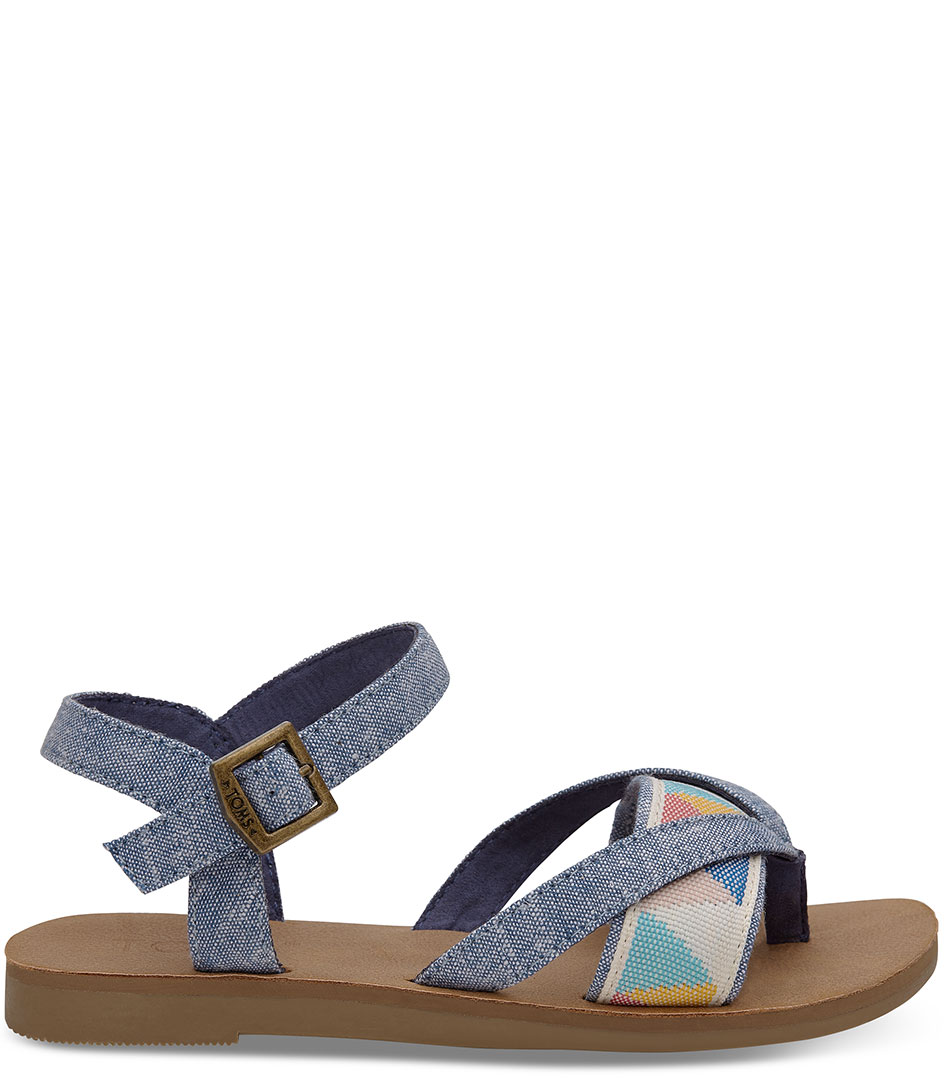 61336d8c310 Lexie Sandal blue chambray (10011551) TOMS