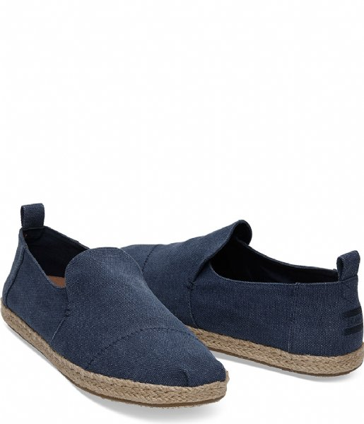TOMS Schoenen Washed Canvas Espadrilles navy washed (10011623)