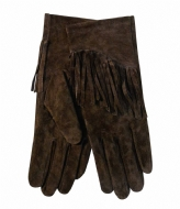 Unmade Copenhagen Suede Glove With Fringe brown (11)