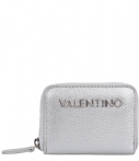 Valentino Handbags-Portemonnees-Divina Zip Around Wallet-Zilver
