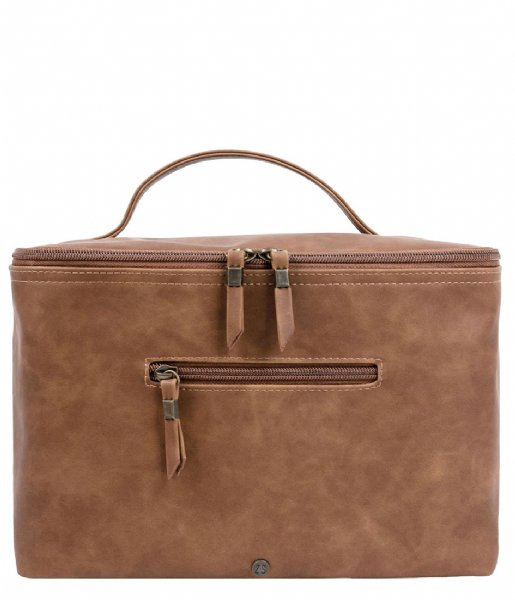 Zusss Make-up tas Beautycase Cognac