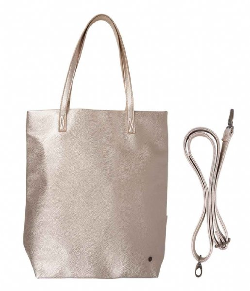 Zusss Shopper Basic Shopper goud metallic