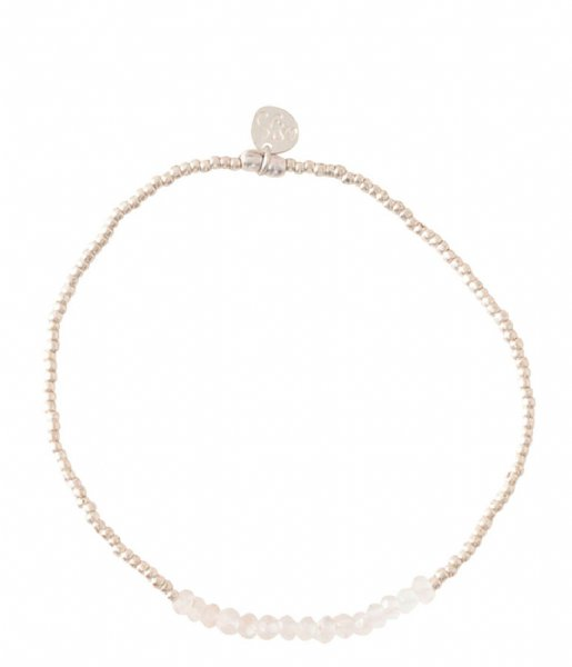 A Beautiful Story Armband Refined Rose Quartz Silver Plated Bracelet silver plated (BL24135)