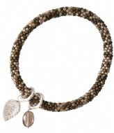 A Beautiful Story Jacky Multi Color Smokey Quartz Silver Bracelet silver colored