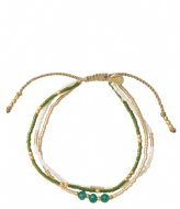 A Beautiful Story Gentle Aventurine Gold plated green