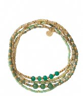 A Beautiful Story Together Aventurine Gold plated green