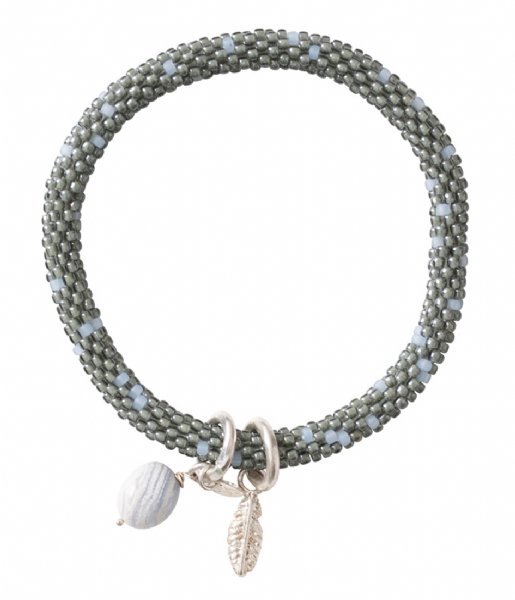 A Beautiful Story Armband Jacky Multi Color Blue Lace Agate Silver Plated Bracelet silver plated (BL22585)