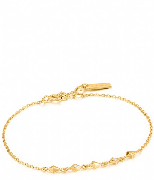 Ania Haie Armband AH B025-01G 925 Sterling Zilver Spike it up Bracelet Gold colored