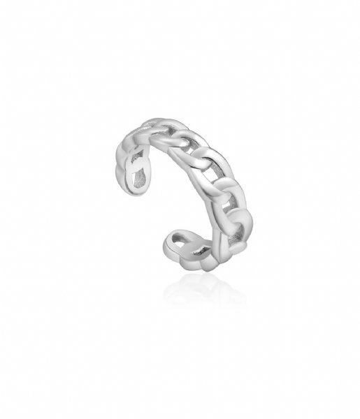 Ania Haie Oorbellen AH E021-05H 925 Sterling Zilver Chain Reaction Zilver