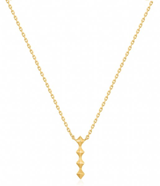 Ania Haie Ketting AH N025-01G 925 Sterling Zilver Spike it up Gold colored