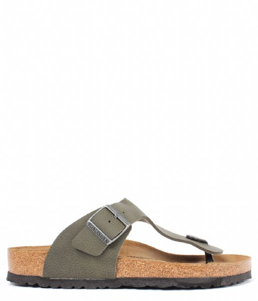 Birkenstock Slippers Ramses Desert Soil Green regular Birko-Flo Desert Soil Green