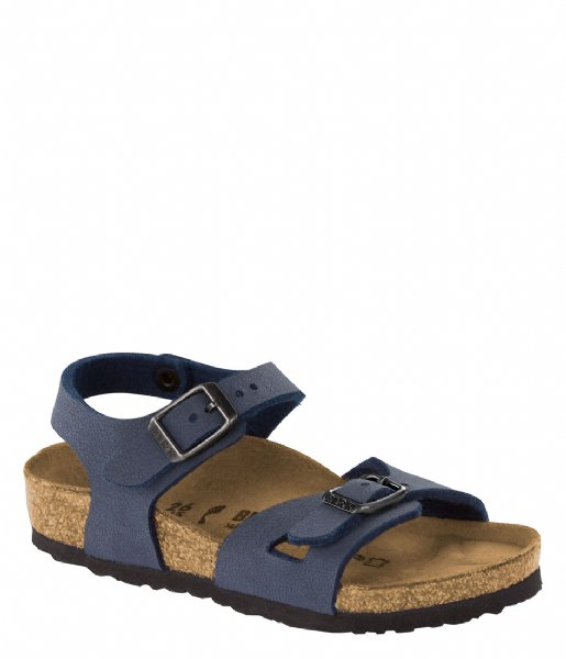 Birkenstock Sandalen Rio Kids narrow Easy Nubuck Navy