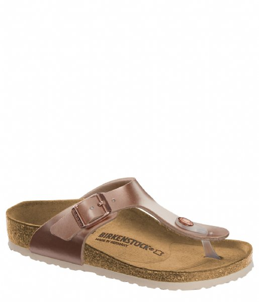 Birkenstock Slippers Gizeh Kids narrow Birko-Flor Metallic Copper