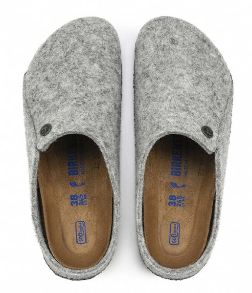 Birkenstock Pantoffels Zermatt Narrow Filz Soft Cozy Home Light grey (1014937)