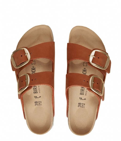Birkenstock Slippers Arizona narrow Nubuck Big Buckle Brandy