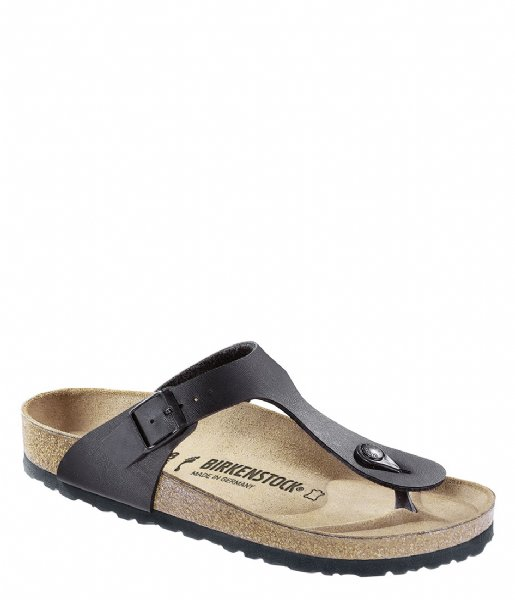 Birkenstock Slippers Gizeh regular Birko-Flor Black