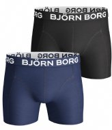 Björn Borg Shorts Sammy Solids Core 2 Pack Blue depths (70101)